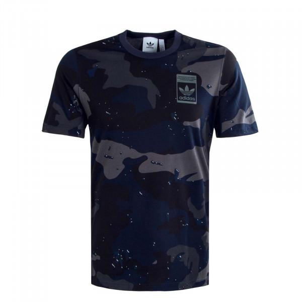 Herren T-Shirt - Camouflage AOP - Navy
