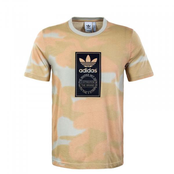 Herren T-Shirt - Camouflage AOP Tongue Alumin - Multico / Black