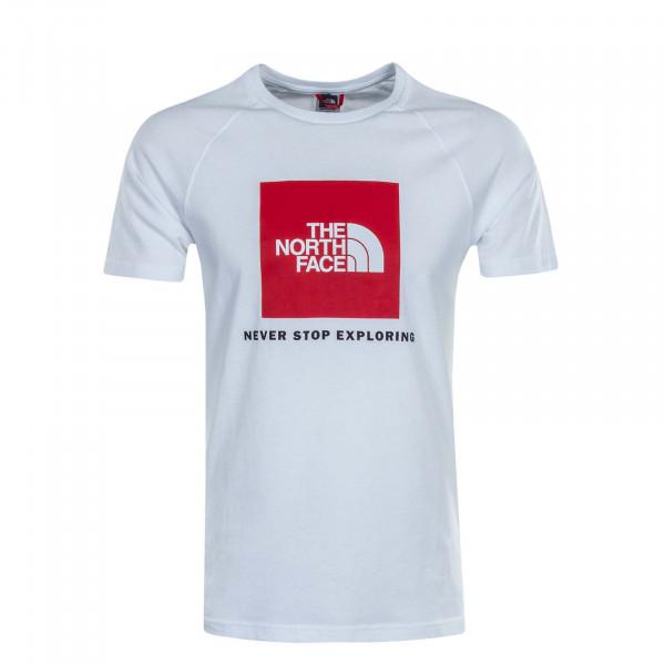 Herren T-Shirt Rag Box White Red
