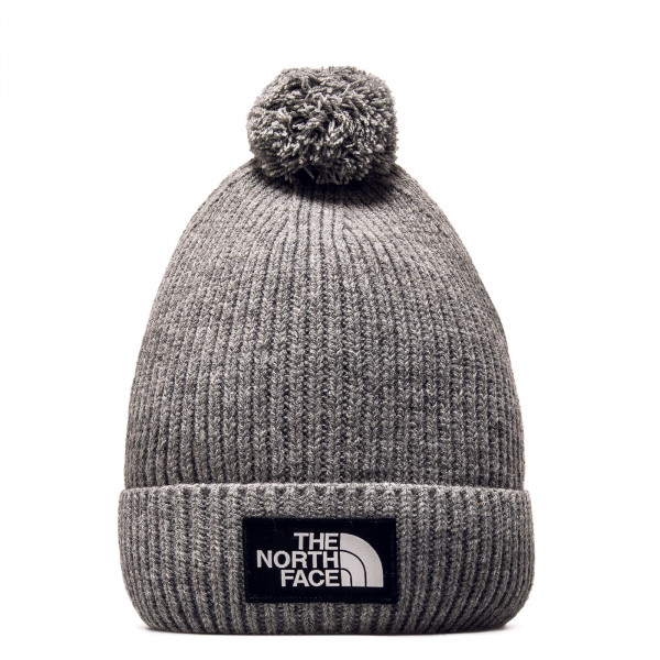 Beanie Logo Box Pom Medium Grey
