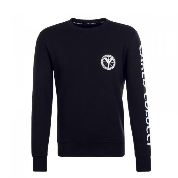 Herren Sweatshirt - C3605 - Black White