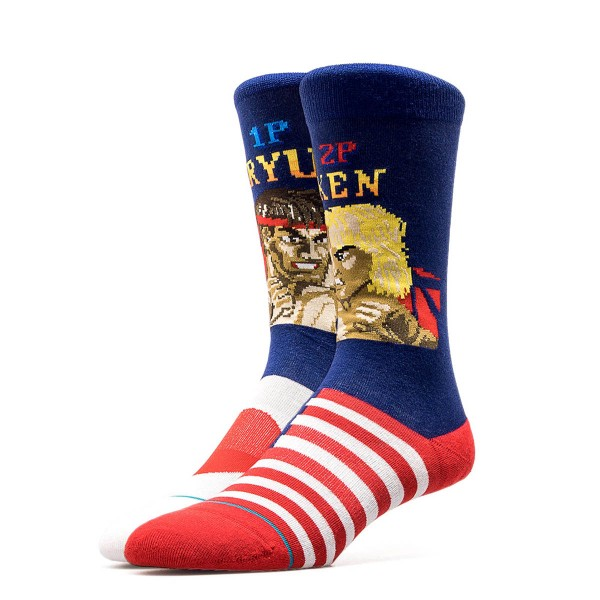 Stance Socks Anthem RYU VS Ken Navy