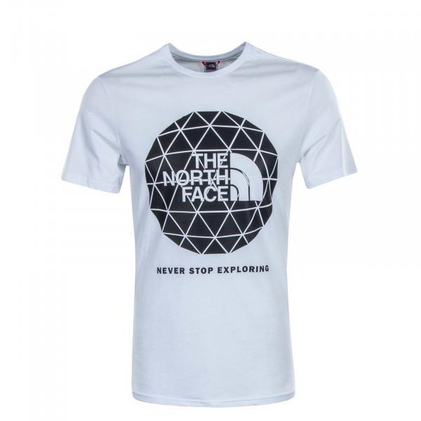 Herren T-Shirt Geodome White Black