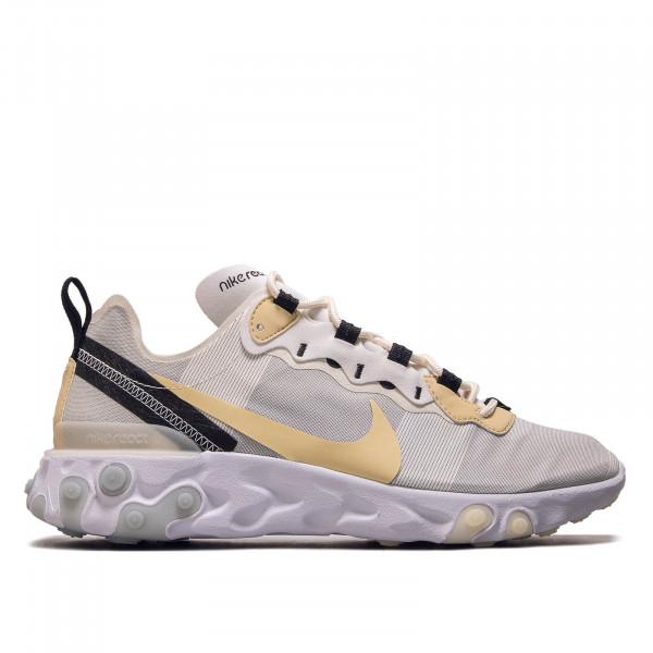 Herren Sneaker React Element 55 White Beige Black