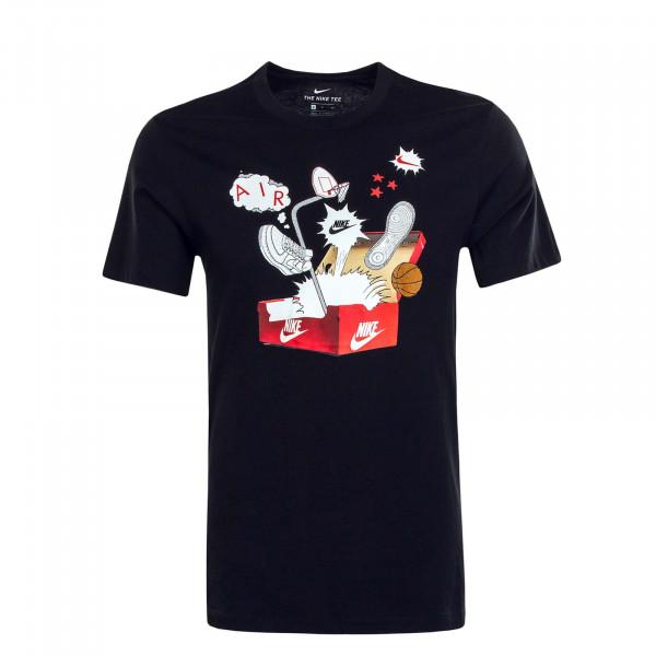 Herren T-Shirt NSW Shoebox Photo Black White Red