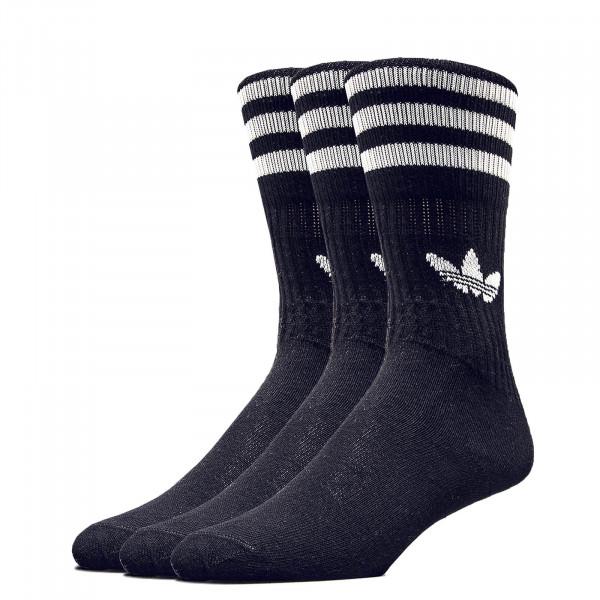 Adidas Socks Solid Crew Black White