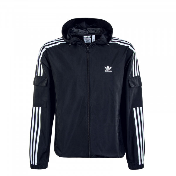 Herren Windjacke - 3 Stripes WB FZ - Black