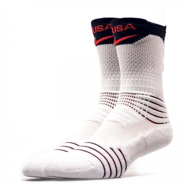 Nike Socks Adult White Navy Red