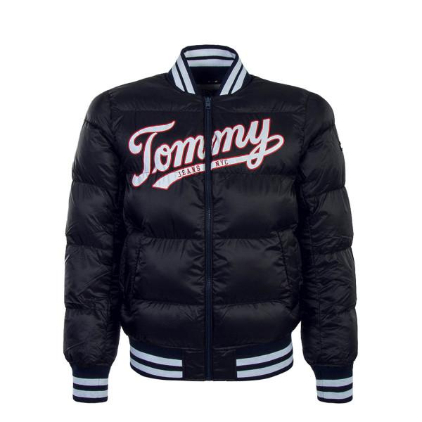 Tommy Jkt Bomber Varsity Fill Black