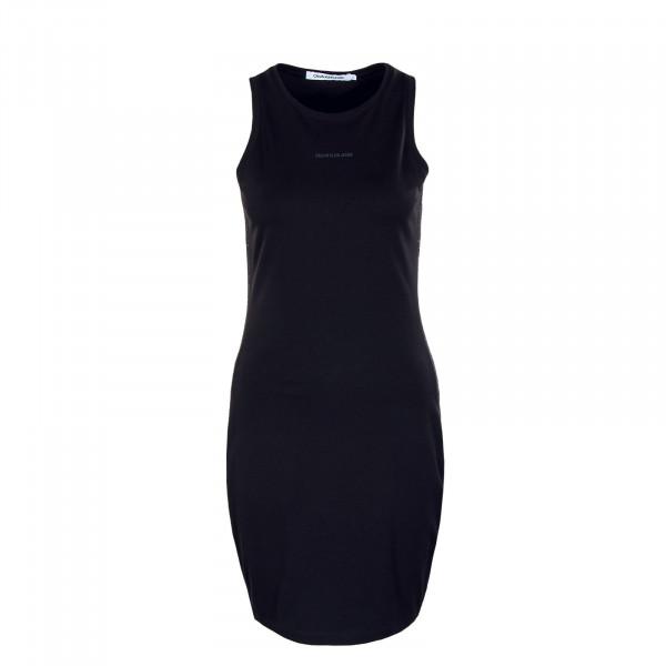Damen Kleid - Logo Trim Racer Back Dress - K Black