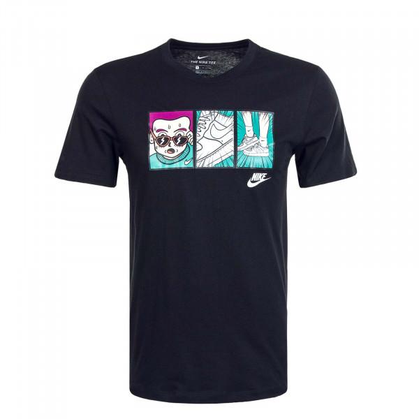 Herren T-Shirt FTWR 1 Illustra CT6527 Black White