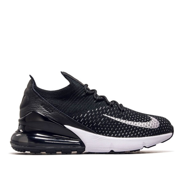 Nike Wmn Air Max 270 Flyknit Black White