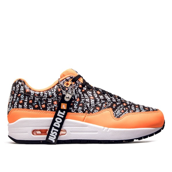 Nike  Air Max 1 Premium Black Orange Wht