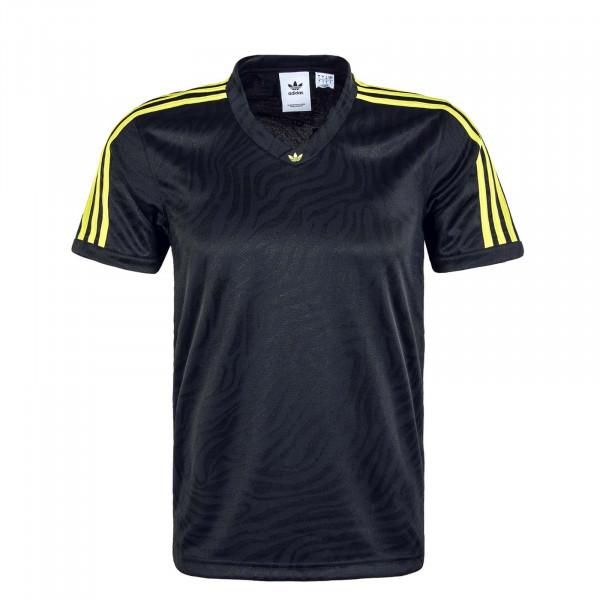 Herren T-Shirt - Jaquard Jersey - Black / Yellow