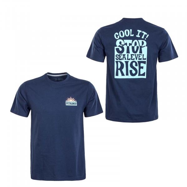 Herren T-Shirt - Stop The Rise Responsibili - Navy