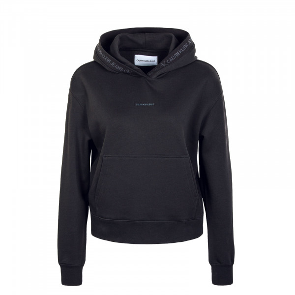 Damen Hoody - Logo Trim - Black