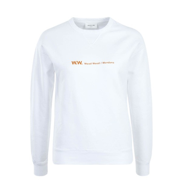 WoodWood Wmn Sweat Flora White
