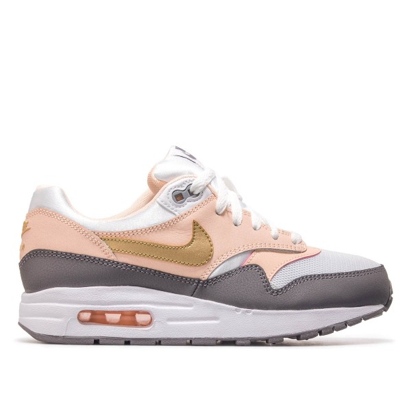 Nike Wmn Air Max 1 GS White Grey Peach