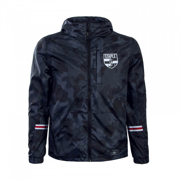 Staple Jacke Pigeon Nylon Camouflage Black