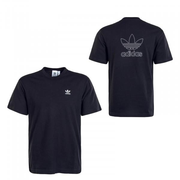 Herren T-Shirt B+F Trefoil Black White