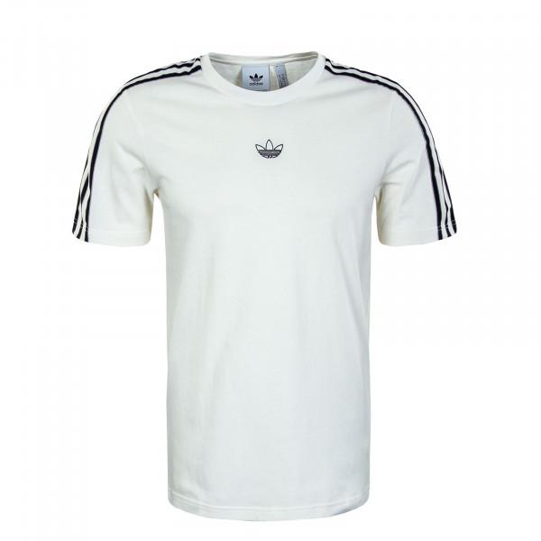 Herren T-Shirt - Sport 3 Stripe - White / Black