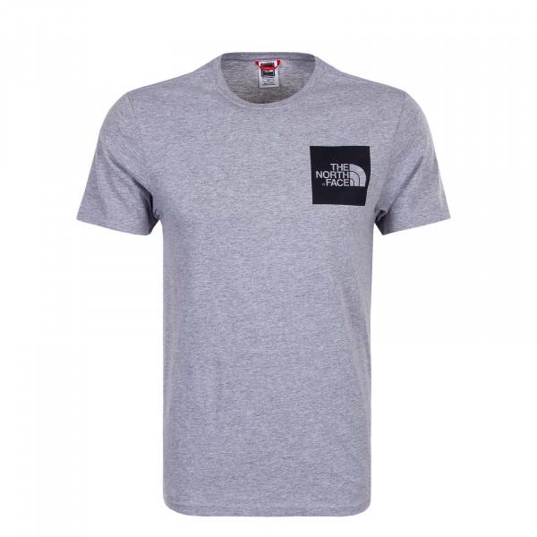 Herren T-Shirt Fine Grey