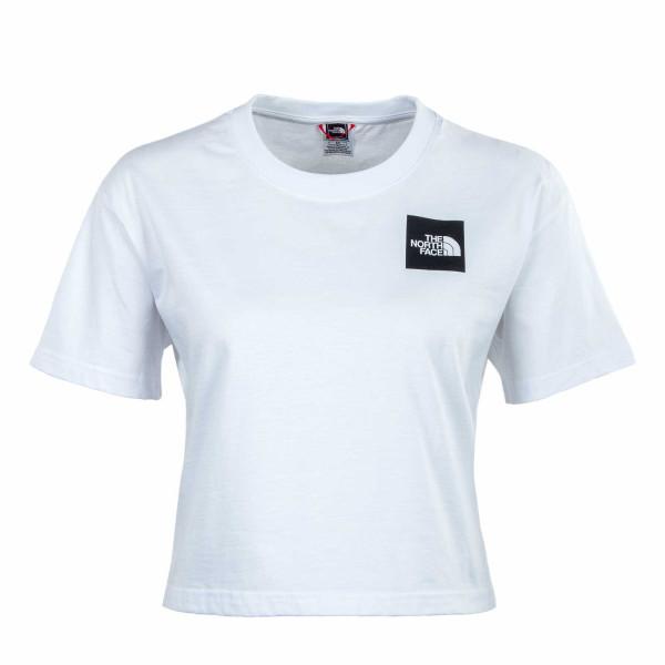 Damen T-Shirt -  Cropped Fine - White