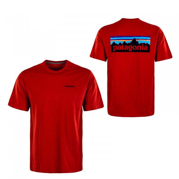 Herren T-Shirt - P-6 Logo  Responsibili - Hot Ember