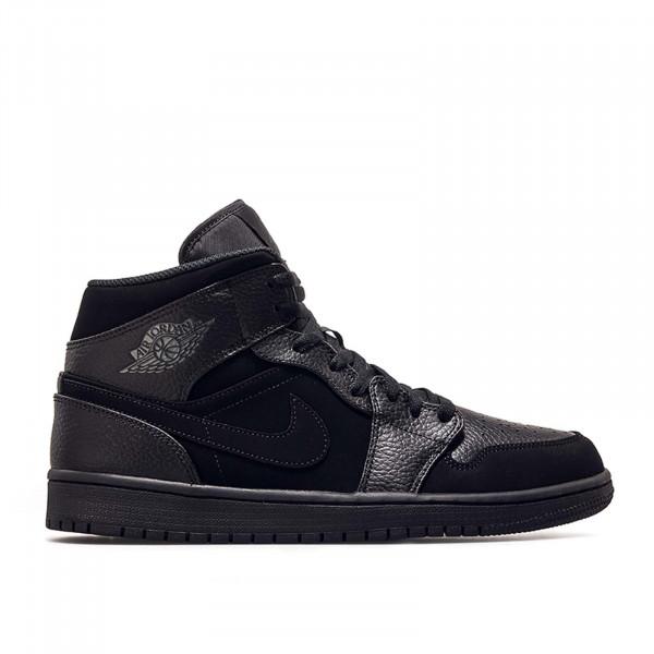 Nike Air Jordan 1 Mid Black DK Smoke Gre