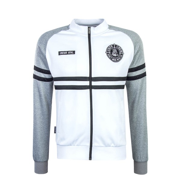 Unfair Sweatjkt Tracktop White Grey