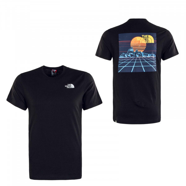 Herren T-Shirt Throwback Tee Black