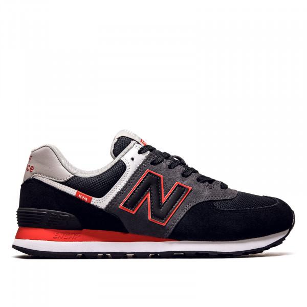 Unisex Sneaker - ML574 SM2 - Black / Velocity Red