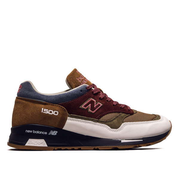 Herren Sneaker M 1500 BWB White Brown Bordeaux