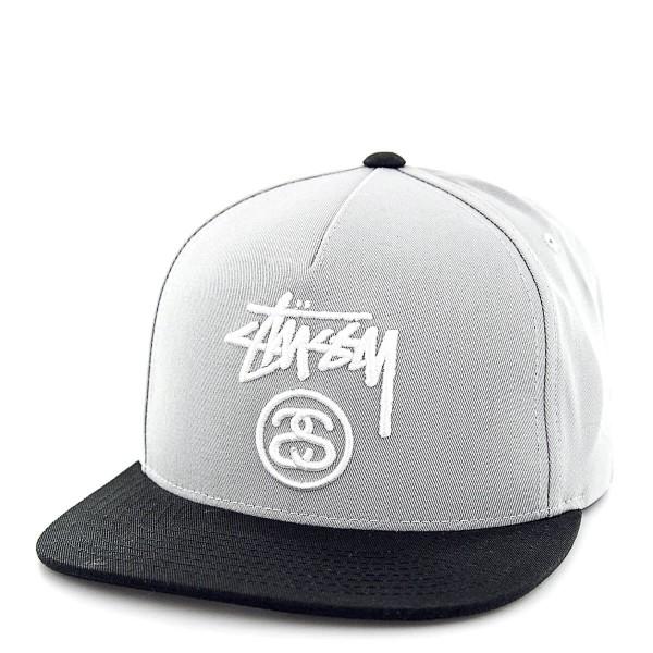 Stüssy Cap Stock Lock Grey Black