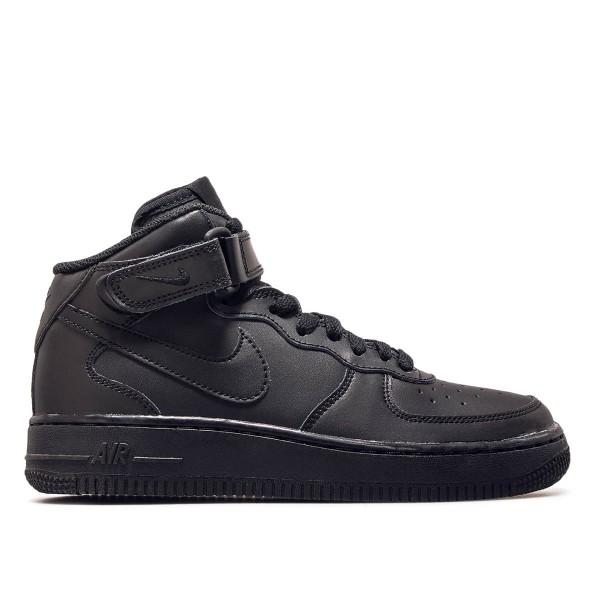Nike Air Force 1 GS Mid 06 Black Black