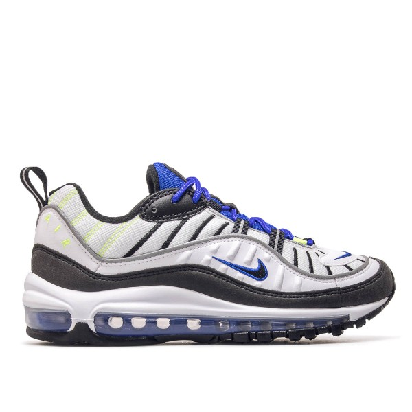Nike Air Max 98 White Black Racer Blue