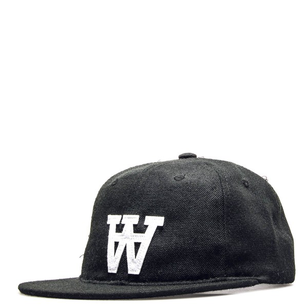 Wood Wood Cap Baseball Black White