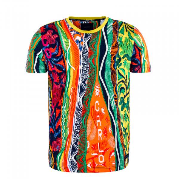 Herren T-Shirt - Orange / Green / Navy