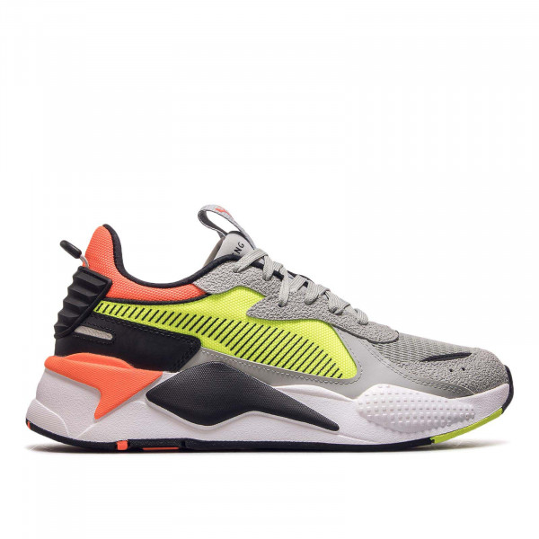 Herren Sneaker RS-X Hard Drive Grey Black Neon