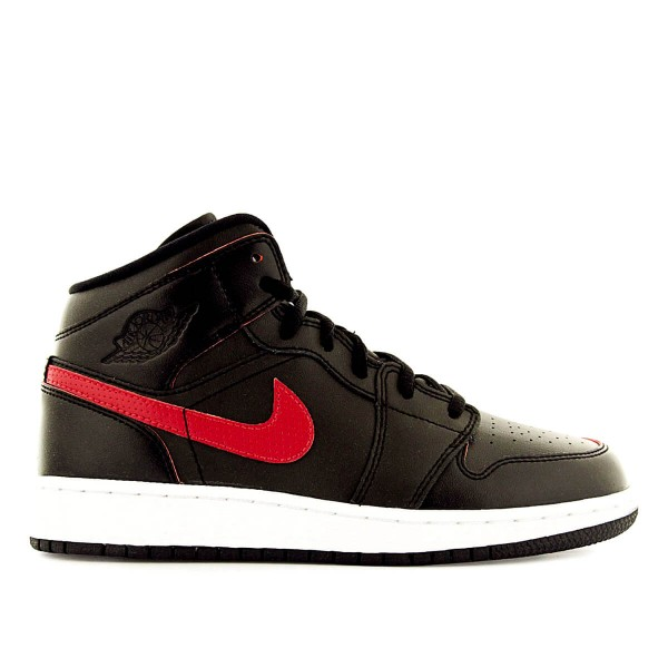 Nike Wmn Air Jordan 1 Mid BG Black Red