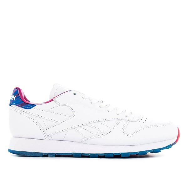 Reebok CL Lth MSP White Blue Pink