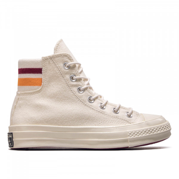 Damen Sneaker Chuck 70 Hi Off White Bordeaux