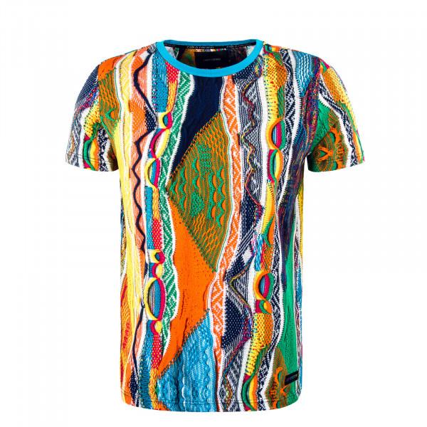 Herren T-Shirt - C3037 - Yellow / Blue / Orange