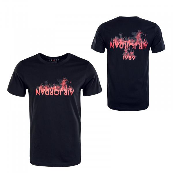 Herren T-Shirt - AJ4 - Black / Red