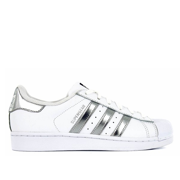 Adidas Wmn Superstar White Silver Black