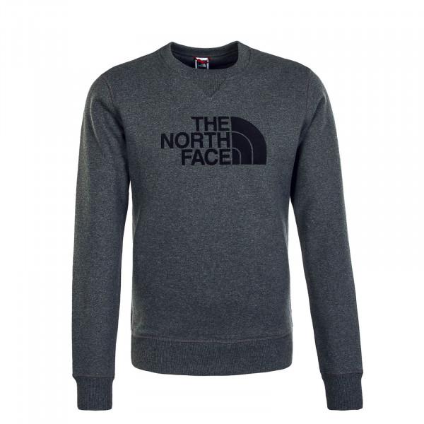 Herren Sweatshirt Drew Peak Crew Med Grey He Black
