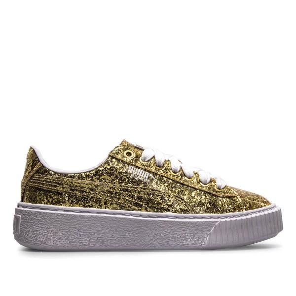 Puma Wmn Basket Platform Glitter Gold