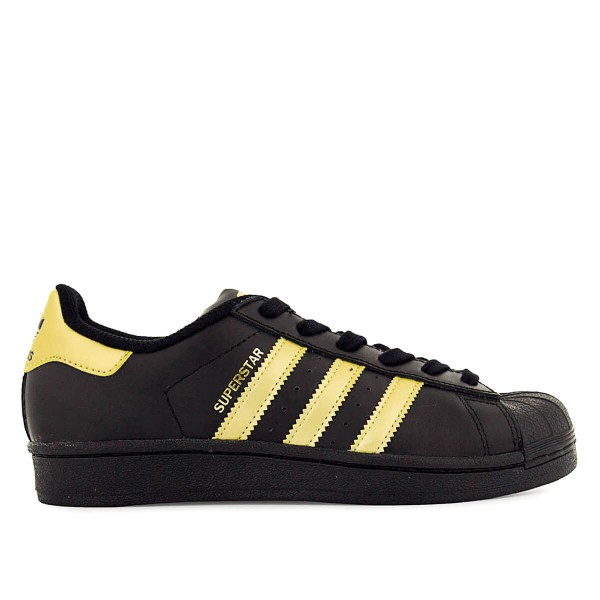 Adidas Wmn Superstar J Black Gold Metal