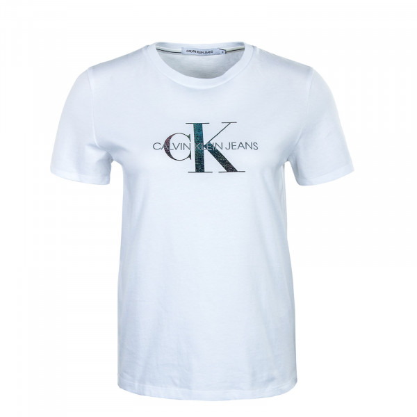 Damen T-Shirt - Reflective Monogram Tee - Bright White
