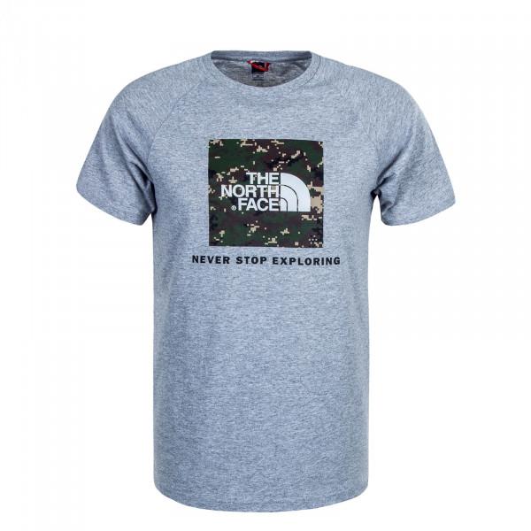 Herren T-Shirt Red Box Grey Olive Tarn